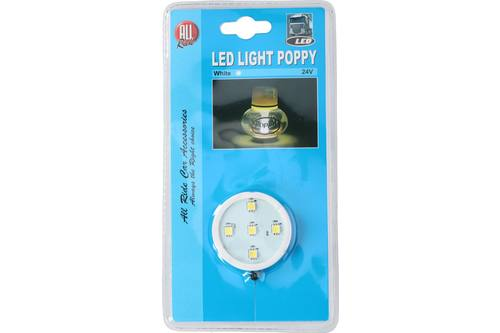 Poppy lamp, AllRide, 5 LEDS, wit, 24V 1