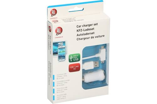 Chargeur allume-cigare et câble usb, AllRide Connect, micro and mini usb 1