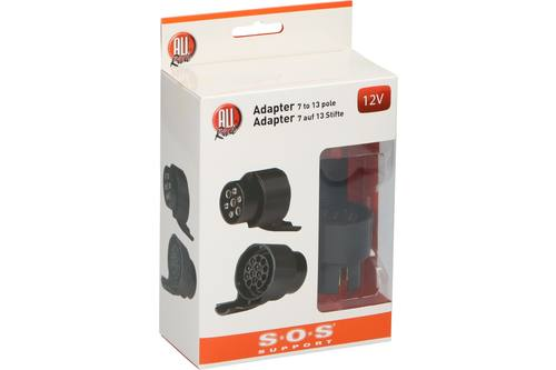 Adapter, AllRide SOS support, 7/13 P, 12V 1