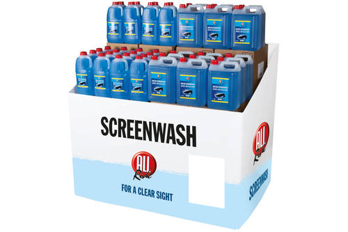Display, Newco, pallet wrap, screenwash 1